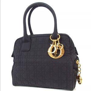 Christian Dior cotton black handbag